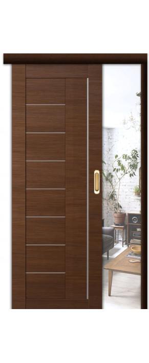 Раздвижная межкомнатная дверь 17Х ДГ малага черри