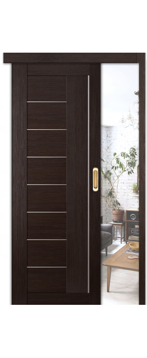 Раздвижная межкомнатная дверь 17Х ДО венге мелинга