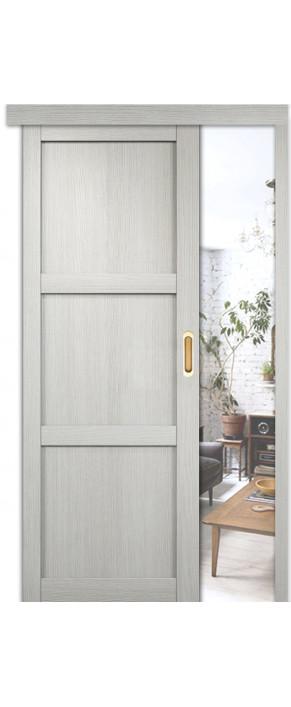 Раздвижная межкомнатная дверь Баден 1 ДГ слоновая кость