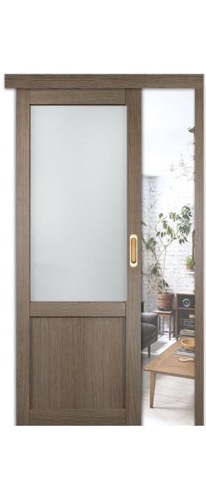 Раздвижная межкомнатная дверь Баден 4 ДО дуб дымчатый