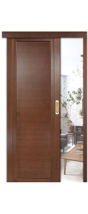 Раздвижная межкомнатная дверь H-III ДГ дуб палисандр